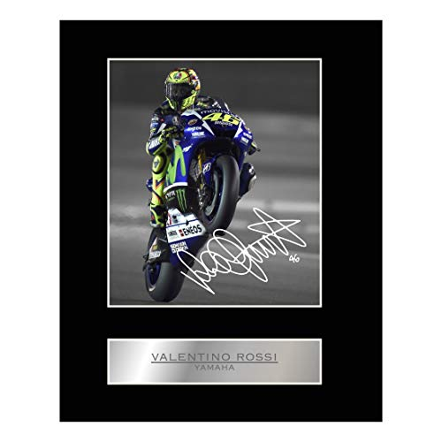 iconic pic Valentino Rossi Mounted Photo Display Yamaha for sale  Delivered anywhere in USA