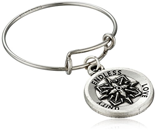 Alex And Ani Healing Love Expandable Rafaelian Silver Stackable Ring, Size 7-9