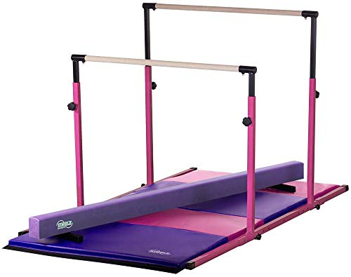 Nimble Sports 3Play Little Gym Combo - Parallel Bars, Balance Beam, and Folding Mat