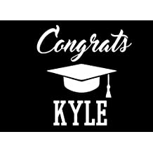Congrats Kyle: Graduation Cap Guest Signing Book For Party, Personalized Gift. Graduate Advice or Autograph Book Lined. (Tassel Zone)
