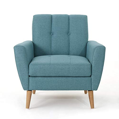 Christopher Knight Home 303696 Angelina Mid Century Blue Fabric Club Chair, - 2