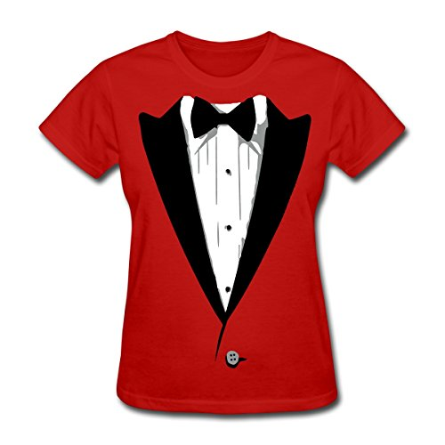[Tuxedo Tux Funny Costume Women's T-Shirt by Spreadshirt, L, red] (Womens Tuxedo Costumes Tshirt)