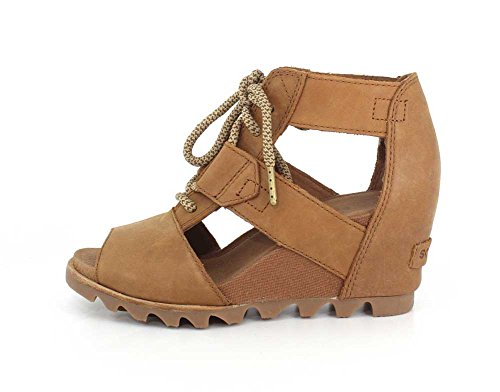 Sorel Womens Joanie Sandali In Pizzo Cammello Marrone