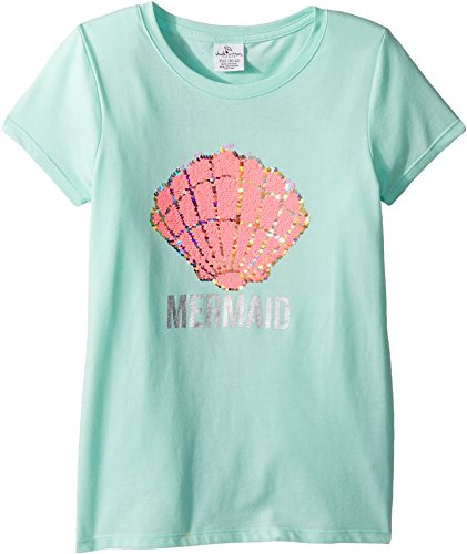Little Mermaid Big Note - shade critters Baby Girl's Magic Two-Way Sequins Mermaid T-Shirt (Toddler/Little Kids/Big Kids) Green 10-12 Years