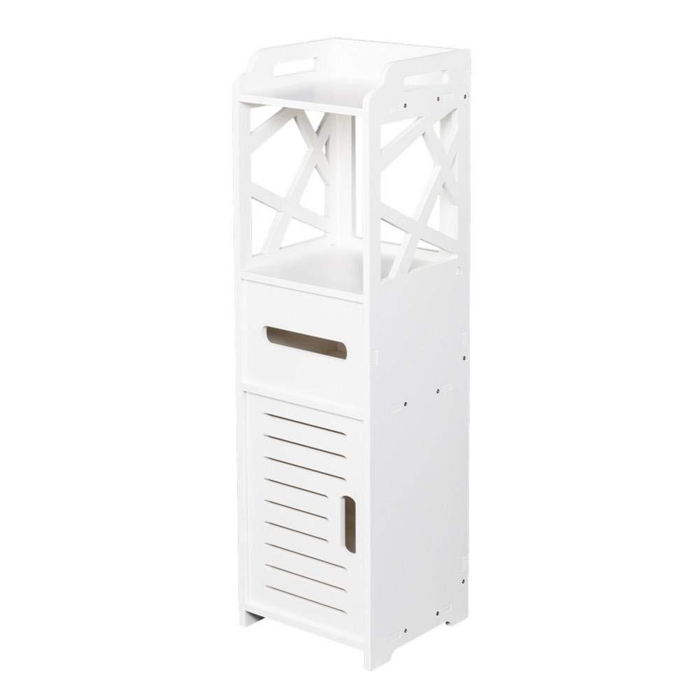 reakfaston Floor Cabinet 3-Tier Multifunctional Bathroom Storage Cabinet with 2 Doors 232380CM