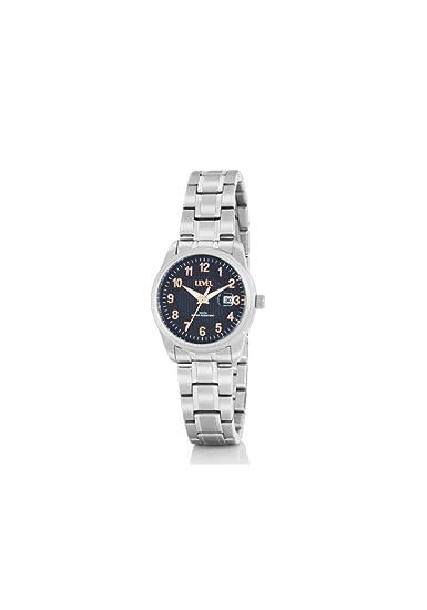 Reloj LEVEL A36713/2 - Reloj chica con armis y caja de acero. Con calendario. Diámetro de la caja 30 mm.: Amazon.es: Relojes