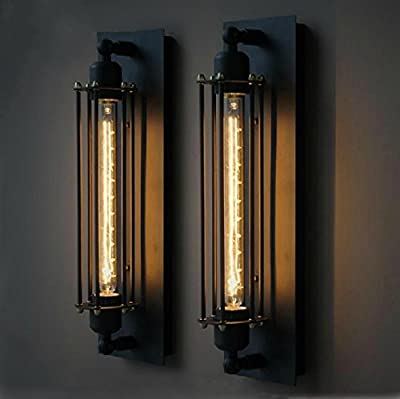 Injuicy Lighting Edison RARE Large Vintage Industrial Lamp Ceiling Wall Light Black Rust Color With T300 Bulb