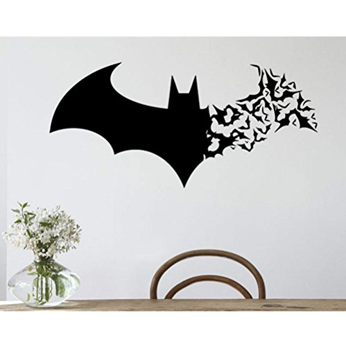 mywaxberry Halloween Festival Costume Party Female Batman Wall Stickers Metope Adornment Wallpaper can be Removed Creative Carved ()