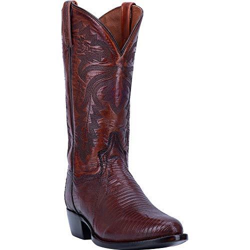 Dan Post Men's Winston Lizard Western Boot Round Toe Tan 8.5 D