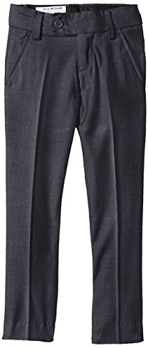 Gray Wool Dress Pants (Isaac Mizrahi Little Boys' Slim Wool Blend Slim Pant, Charcoal, 5)