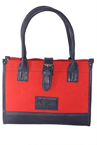 fac5904f60b1 Women s Designer Canvas Top-Handle Handbag By Giant Roots  Amazon.in  Shoes    Handbags