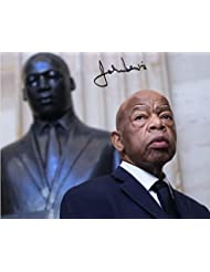 John Lewis Reprint Signed Autographed 8x10 Poster Congressman Civil Rights Activist Photo Reproduction Print