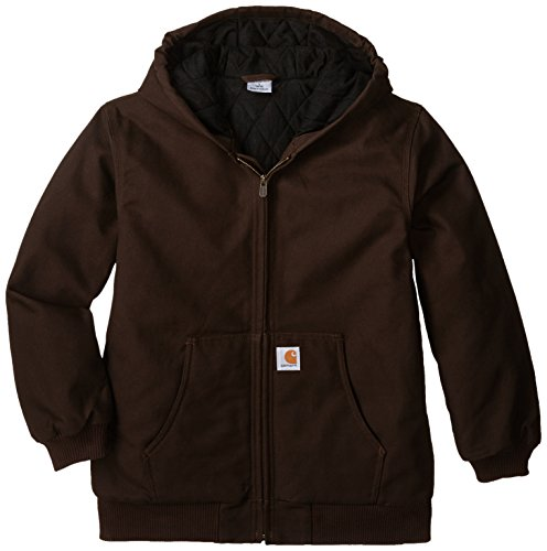(Carhartt Big Boys' Active Jacket, Mustang Brown, XL(18-20))