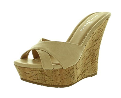 54dfe73f7 Fashion Focus Women's Ardo-39 Wedge Sandals Slides,Natural,7 - Buy Online  in Oman. | Apparel Products in Oman - See Prices, Reviews and Free Delivery  in ...