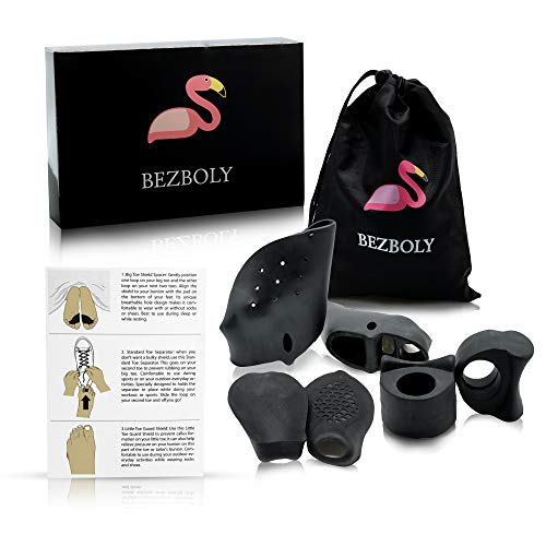 Breathable Orthopedic Bunion Corrector & Splint Kit for Women by BEZBOLY - Pain Relief in Hammer Toe Straightener, Hallux Valgus - Toe Pads for Big Toe, Pinky Toe Corrector de Juanetes by BEZBOLY