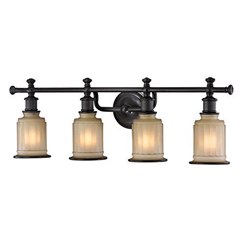 Acadia 1 Light Wall Fixture (Elk Lighting 52013/4 Acadia Collection 4 Bath Light, Oil Rubbed Bronze)