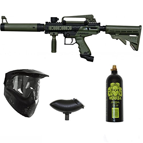Tippmann Cronus Tactical Paintball Gun 3Skull Package Set - Olive by 3Skull