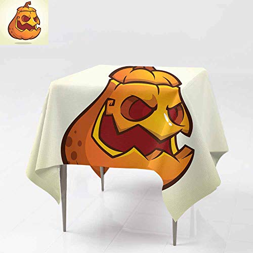 (AFGG Anti-Fading Tablecloths,Halloween Scary Pumpkin Head Scarecrow Vector illustra,Party Decorations Table Cover Cloth 54x54 Inch Tion f or Halloween Holiday)