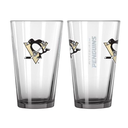 NHL Pittsburgh Penguins Elite Pint Glass, 16-ounce, 2-Pack