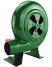 Ventilador De Barbacoa Top Manual Forge Blower Fuelles Manivela (Verde, 80W)