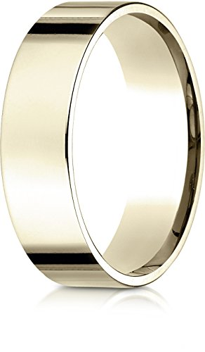 Benchmark 14K Yellow Gold 6mm Flat Comfort-Fit Wedding Band Ring , Size 9.5 ()