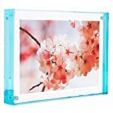 Color Edge Magnet Frame by Canetti-Pastel Aqua 3.5x5 inch