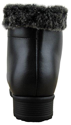 Comfy Moda Women's Winter Snow Boots London (10, Black) by Comfy Moda (Image #3)