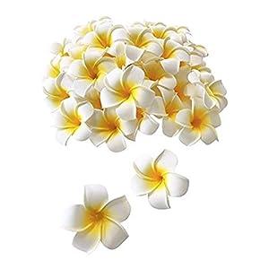 100 Pcs Diameter 3.5 Inch Artificial Plumeria Hawaiian Foam Flower For Wedding Party Home Decoration 2