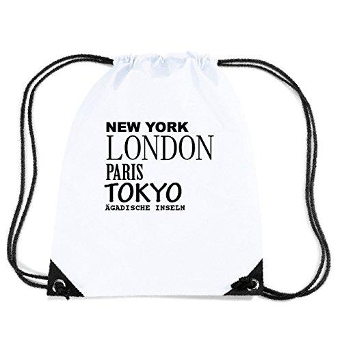 JOllify ÄGADISCHE INSELN Turnbeutel Tasche GYM5049 Design: New York, London, Paris, Tokyo