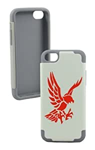Angry Eagle Plastic & Silicone Silver Case for Iphone 4/4s