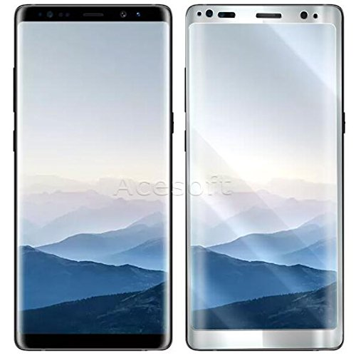 100% New Full Screen Coverage Wear-resisting Curved Tempered Glass Screen Protector Film for Samsung Galaxy Note 8 SM-N950U T-Mobile Android Phone by ReelWonder (Image #1)