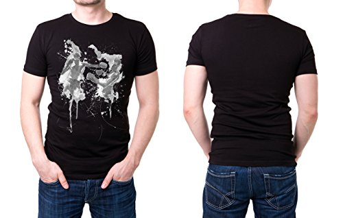 Boxen_II schwarzes modernes Herren T-Shirt mit stylischen Aufdruck