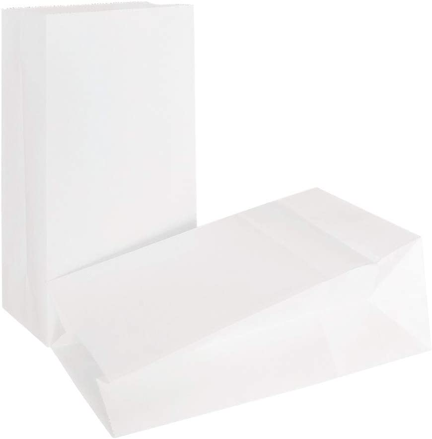 KEYYOOMY Small Paper Bags White Party Goody Bags for Party (100 CT, 3.5 X 2.4 X 7.1 in)