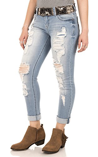 Juniors Belted Jeans - 2