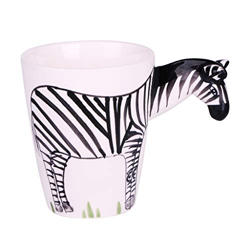 Hand Painted Milk - Fvstar Zebra Coffee Mugs 12 oz Novelty Animal Coffee Cup Funny Ceramic Tea Cups Hand Painted Milk Cup