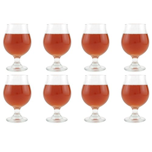Libbey Belgian Beer Glass - 16 Ounce, Set of 8