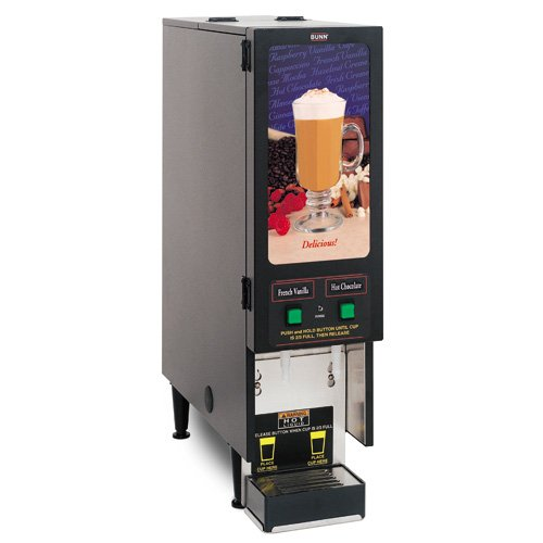 Bunn FMD-2 BLK Fresh Mix Cappuccino / Espresso Machine Hot Beverage Dispenser with 2 Hoppers 120V (B by Bunn