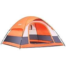 semoo resistente al agua, 2–3persona, 1puerta, 3-Season–Saco tienda de campaña ligera para acampar con bolsa de transporte
