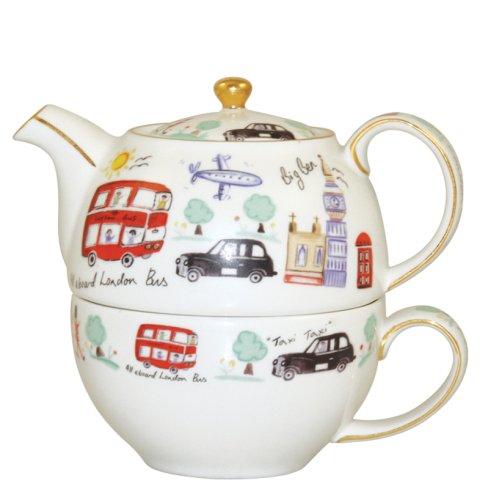 Churchill China James Sadler Teapot & Cup, London Travel, Giftboxed