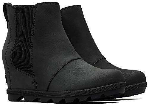 Sorel - Women's Joan of Arctic Wedge II Chelsea Boots, Black, 11 M US (Best Winter Chelsea Boots)