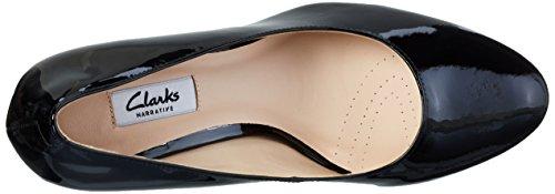 Clarks Kendra Sienna, Zapatos de Tacón para Mujer Negro (Black Patent)