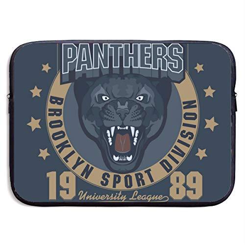 SWAKOJIJI Panther Sport T-Shirt Graphics 13/15 Inch Laptop Sleeve Bag for MacBook Air 11 13 15 Pro 13.3 15.4 Portable Zipper Laptop Bag Tablet Bag,Diving Fabric,Waterproof Black