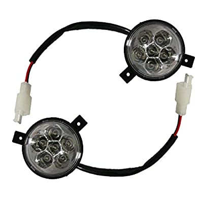 WPHMOTO 2PCS 12V LED Front Head Light Headlight For 50cc 70 90 110cc 125cc 150cc 200cc Quad 4 Wheeler Go Kart ATV