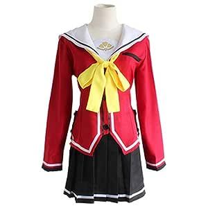 YKJ Chaqueta roja del Personaje de Anime y Pajarita Amarilla Falda ...
