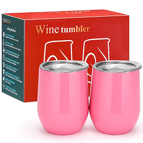 12-oz-Double-insulated-Stemless-Glass-Stainless-Steel-Tumbler-Cup-with-Lids-for-Wine-Coffee-Drinks-Champagne-Cocktails-2-Sets-Pink
