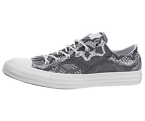 """Converse Chuck Taylor All Star """"Reptile Print"""" OX Low Top Women's Sneakers 547284F Black 8 M US"""