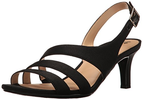 Taimi Dress Sandal, Black, 7 W US ()
