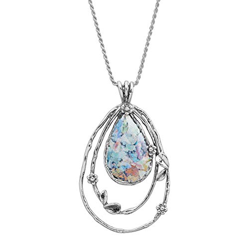 Silpada 'Augusta Praetoria' Roman Glass Pendant Necklace in Sterling Silver