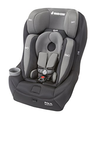 Maxi-Cosi Pria 70 Convertible Car Seat with Tiny Fit, Total Black