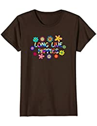 Long Live Hippies Fun Psychedelic Flower Hippy T-shirt